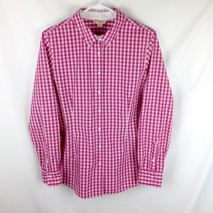 Brooks Brothers Red Fleece Gingham Check Shirt 12
